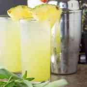 Pineapple and sage mojito.