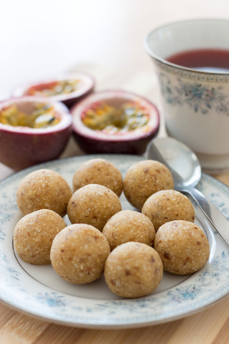 Passionfruit bliss balls.