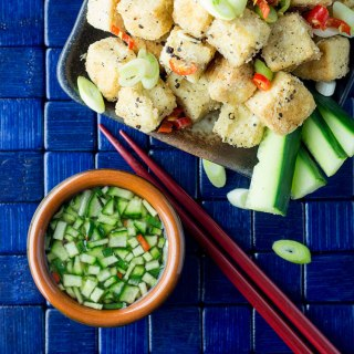 Crispy salt and pepper tofu.