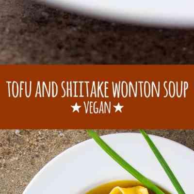 Tofu and shiitake mushroom wonton soup.