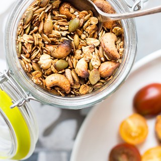 Savoury granola with fennel and chilli