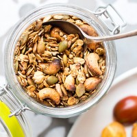 Savory granola with fennel and chilli (vegan and gluten free).