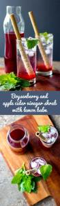 Home made boysenberry and apple cider vinegar shrub, a refreshing alternative to fruit cordials and a perfect mixer for alcoholic and non-alcoholic drinks. (Vegan and gluten free).