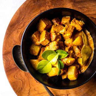 Balinese tempeh and potato curry.
