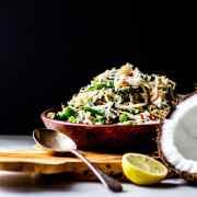 Urab sayur: Balinese coconut and vegetable salad.