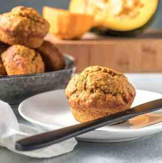 Pumpkin, orange and chia seed muffins.