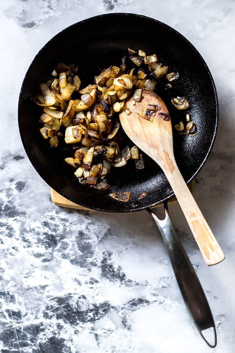 Caramelised onions.