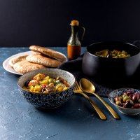 Vegetable and olive tagine