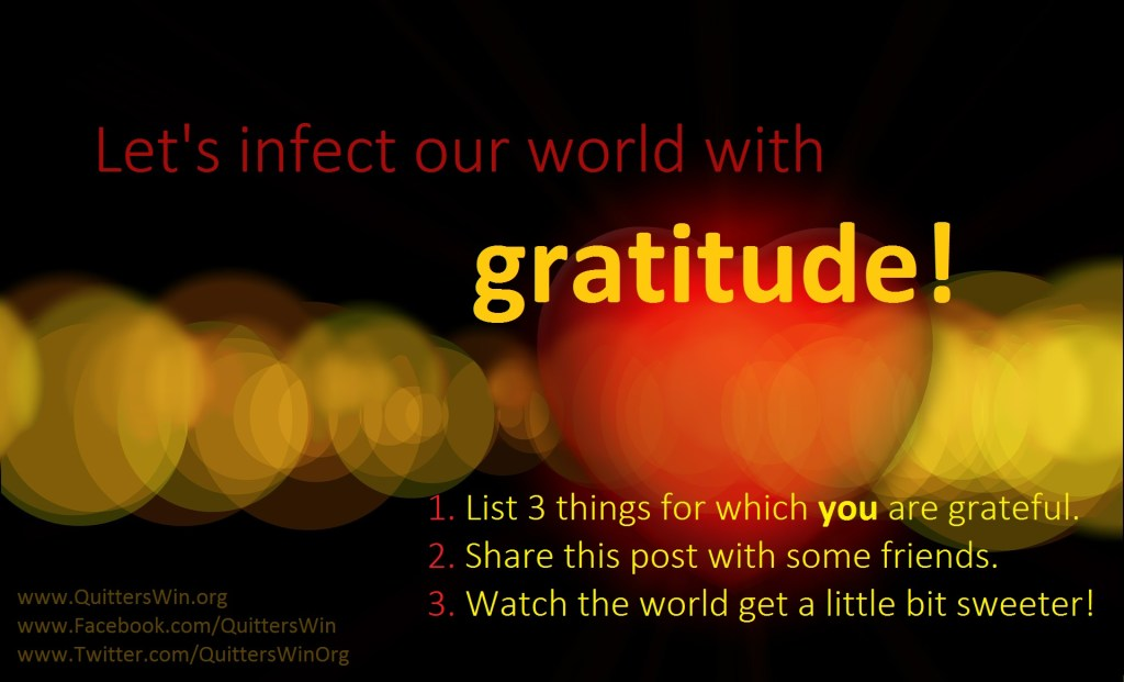 List 3 things for which you are greatful for!