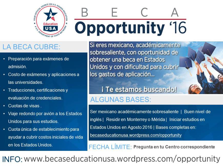 Convocatoria Beca Opportunity 16