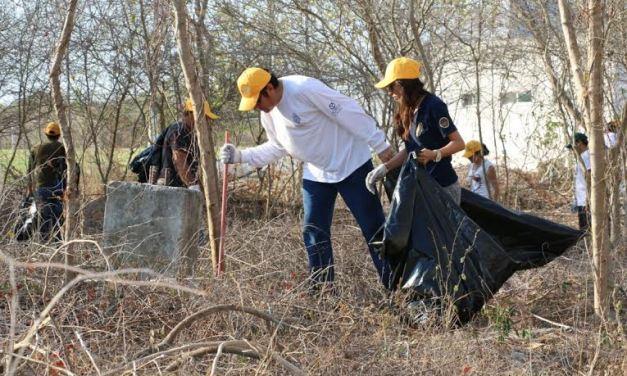 Intensa campaña de limpieza en campus de la UADY