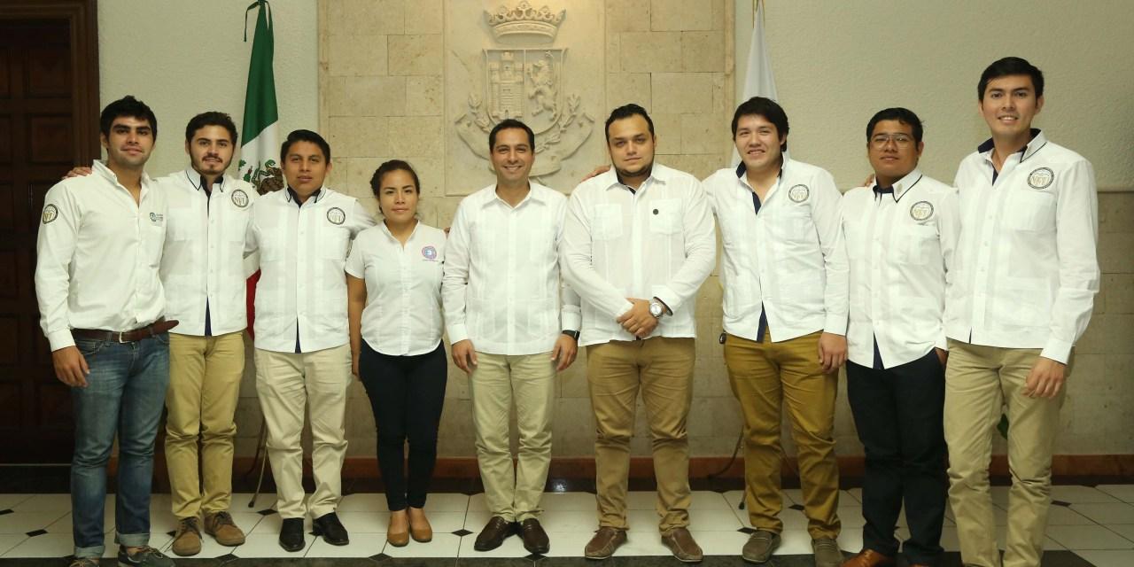 El alcalde recibe a la directiva de la Nueva Federación Universitaria