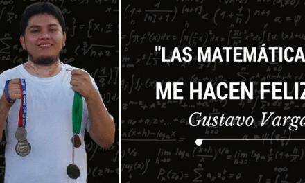Las matemáticas me hacen feliz: Gustavo Vargas