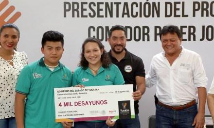 Entregan 24 mil desayunos a jóvenes yucatecos