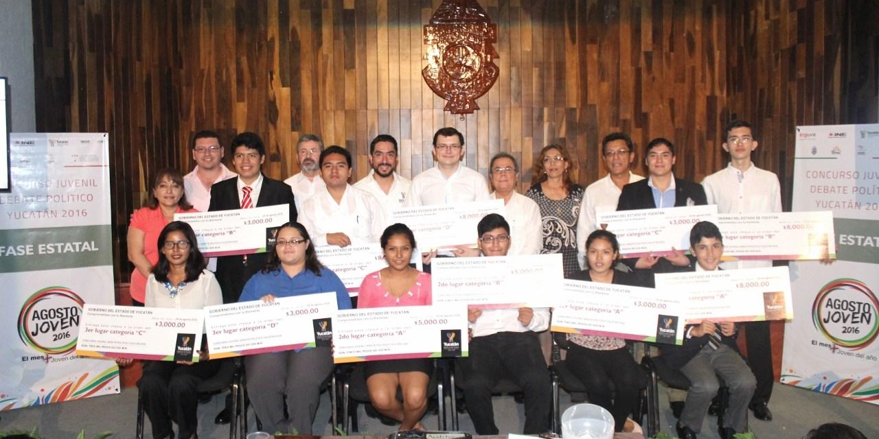 Oradores representarán a Yucatán en concurso nacional