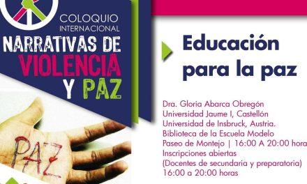 Impartirán taller vivencial: Educar para la Paz
