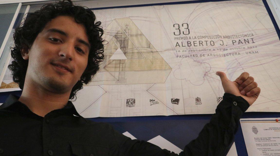 Diego Lizama, estudiante de la UADY, es galardonado con premio nacional a la Composición Arquitectónica