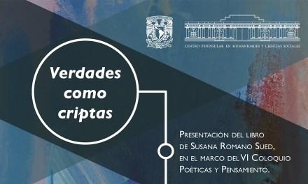 Presentan en Mérida poemario 'Verdades como criptas'