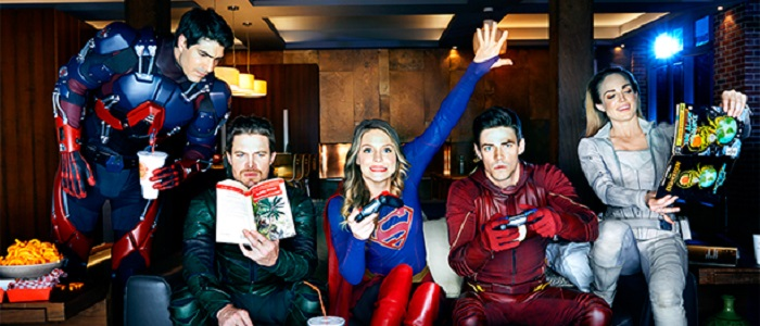 First Images From The Arrow, Flash, Supergirl And Legends Of Tomorrow Crossover!