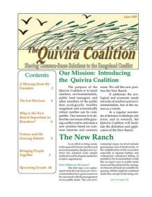Quivira Newsletter #1