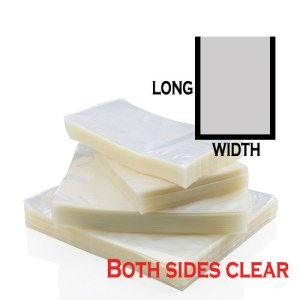 Vacuum Bag Both Sides Clear (100pcs)