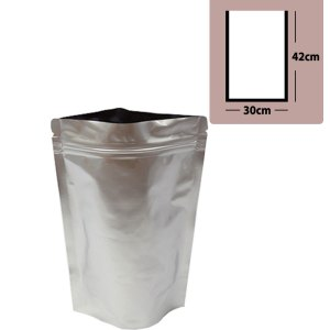 Quiware Stand Up Zip Lock Pure Aluminium Pouch 30cm(Width) x 42cm(Long) -100 pouches