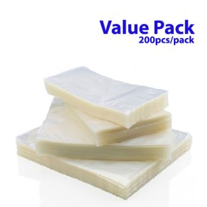 x200pcs Vacuum Bag Both Sides Clear – Value Pack