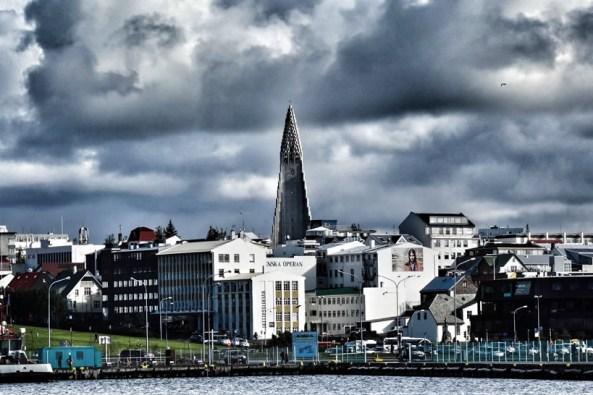 Reykjavik from the Harbor