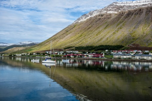 Isafjordur with Sun
