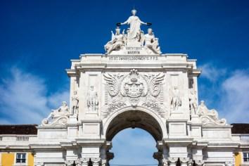 Triumphal Arch in Comercio Square, Lisbon