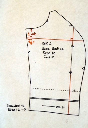 Side Front Bodice Pattern