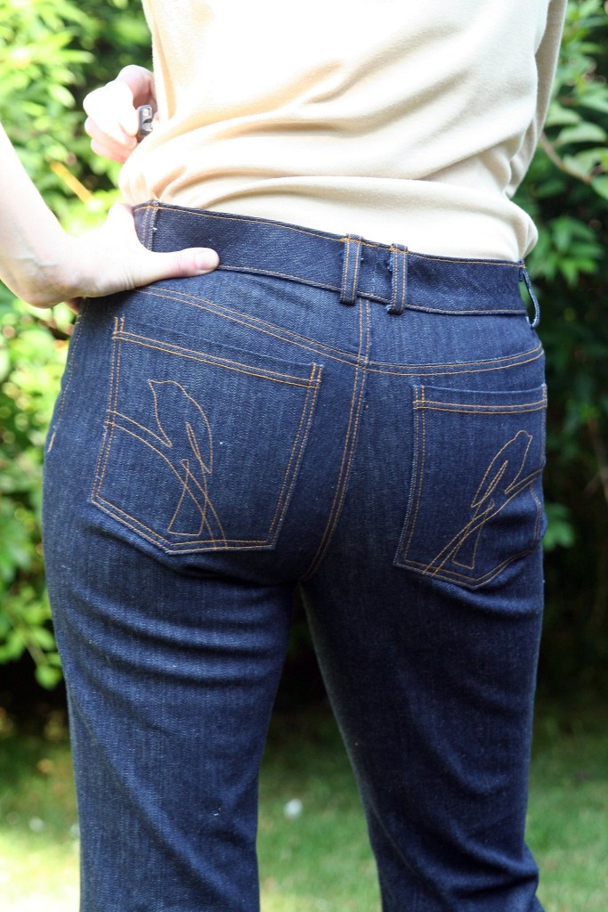 Jeans Pockets with Birds