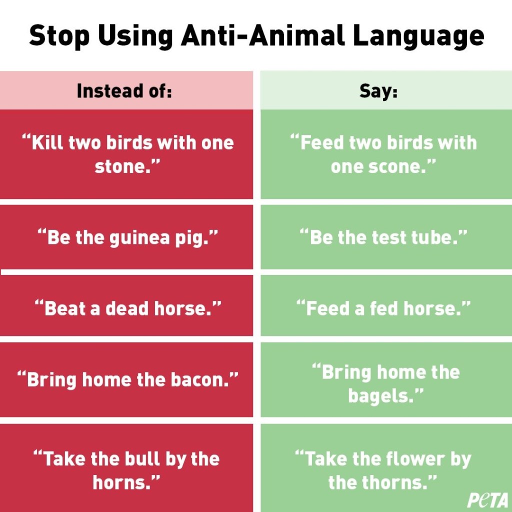PETA anti-animal language