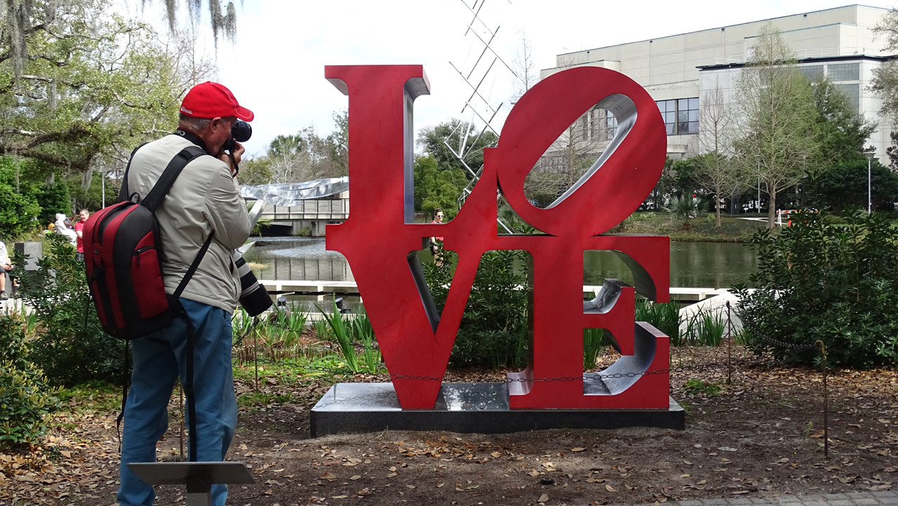 LOVE, Red Blue by Robert Indiana