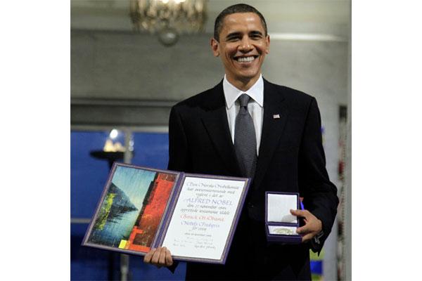 Nobel Peace Price awarded to Barack Obama