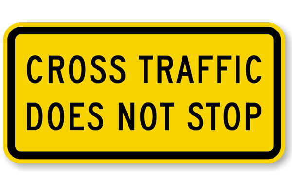 Quizagogo - US Road Signs - Cross Traffic Does Not Stop