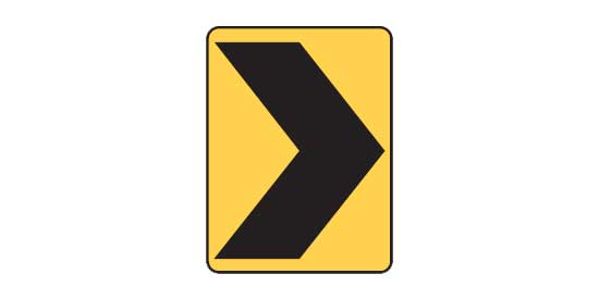 Quizagogo - US Road Signs - Chevron sign
