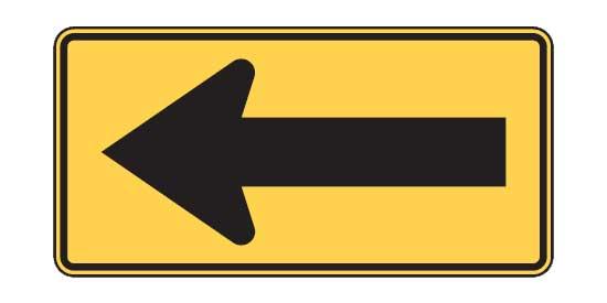 Quizagogo - US Road Signs - Large arrow