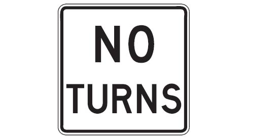 Quizagogo - US Road Signs - No Turns