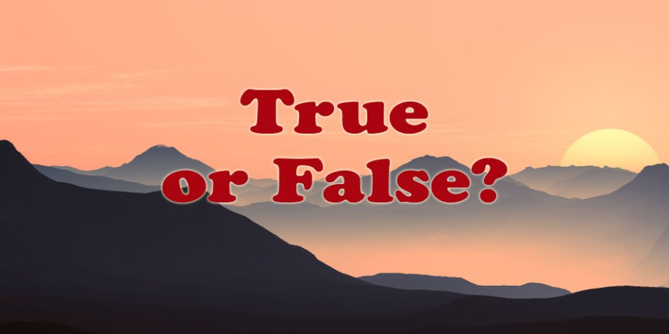 True or False Quiz - No 2