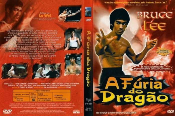 capa do filme a fúria do dragão de bruce lee