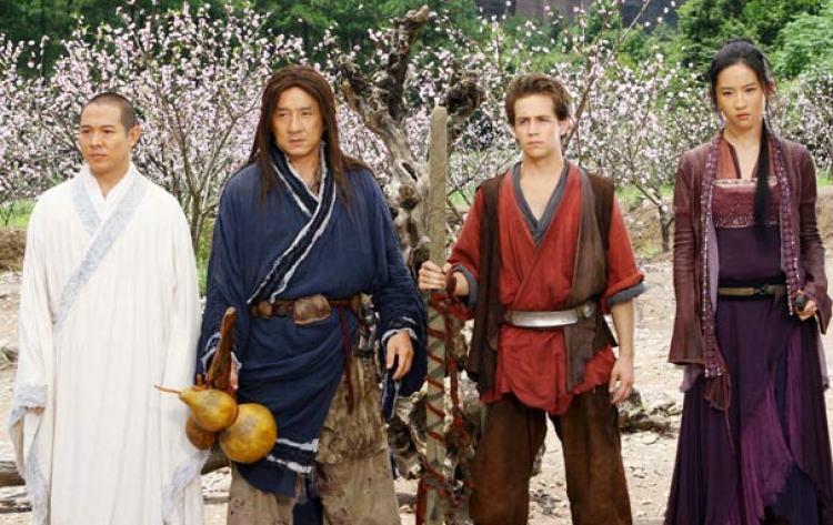 cena do filme o reino proibido de Jackie Chan