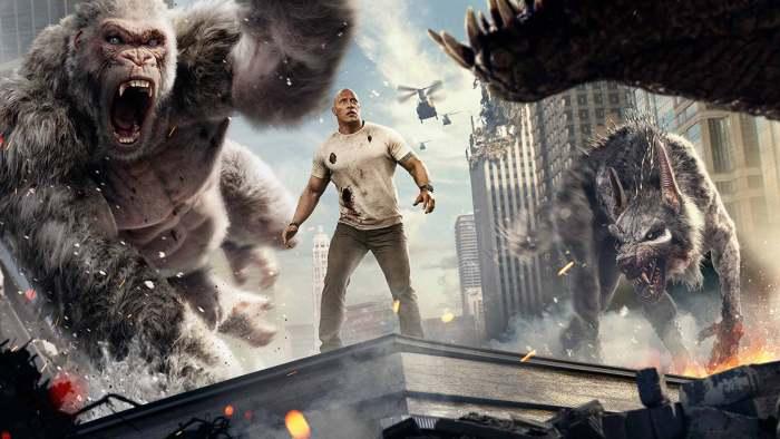 Filme Rampage - filme de ação e aventura - uma das cenas