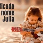 foto escrita significado do nome Julia