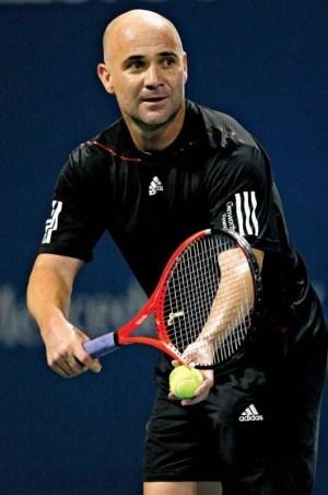 foto do jogador de tenis André Agassi