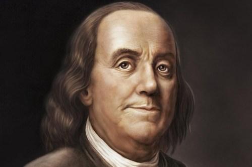 foto do famoso Benjamin Franklin