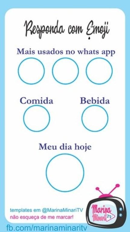 Que emojis você usa mais templete para whatsapp