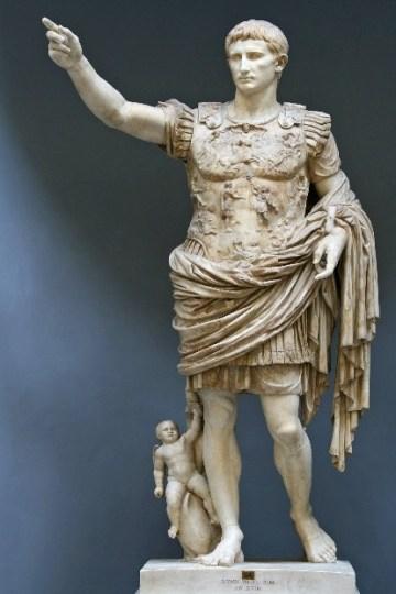 foto do augusto do império romano