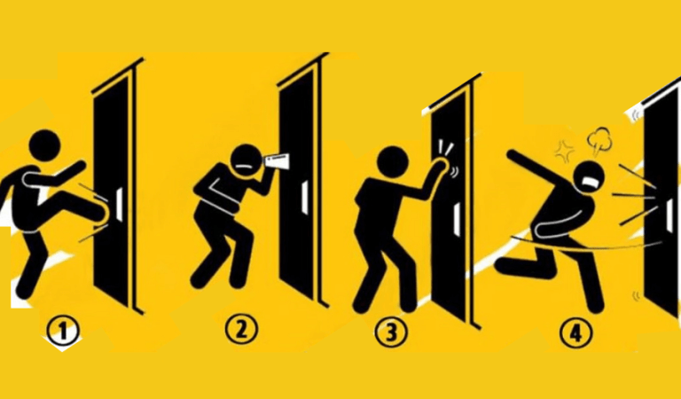 Se você chegasse em casa e ninguém abrisse a porta, qual seria sua reação?
