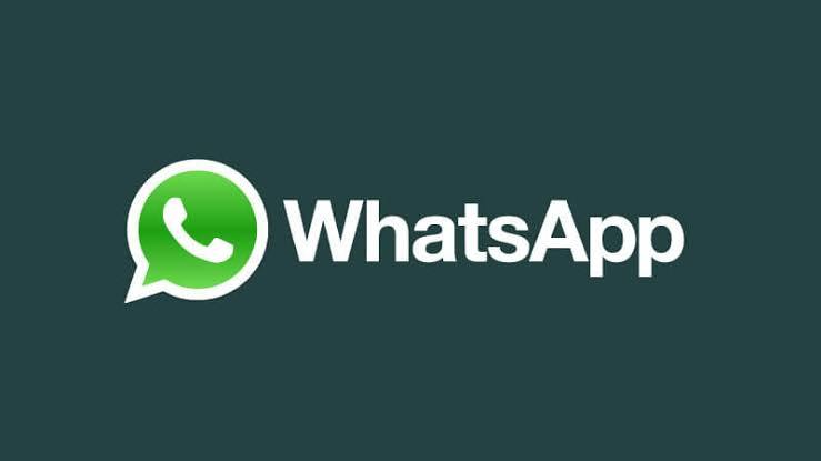 imagem escrita WhatsApp com o simbolo